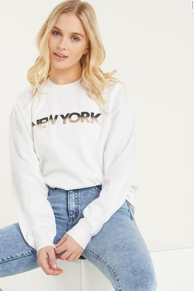 White 'New York' Sweatshirt